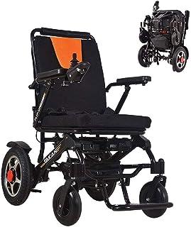 RDJM De Peso Ligero Plegable sillas de Ruedas eléctrica Silla de Ruedas, Súper Pesado Silla de Ruedas eléctrica/baterías de Litio/Extra/Potente Sólo 27.10Kg Ligera Fold Plegable portátil