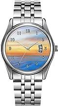 Christmas Luxury Steel Men Watch Fashion Male Date Calendar Clock Sports Watchband Waterproof Man Quartz Wrist Watches Florida Coast at Dusk Wrist Watch