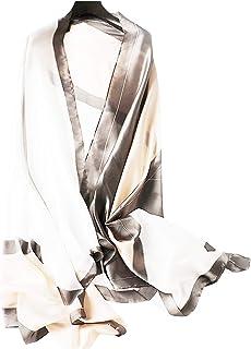 [ワン アンブ] 大判 ストール シルク タッチ スカーフ さらさら 春 夏 秋 冬 ショール 薄手 180×90cm