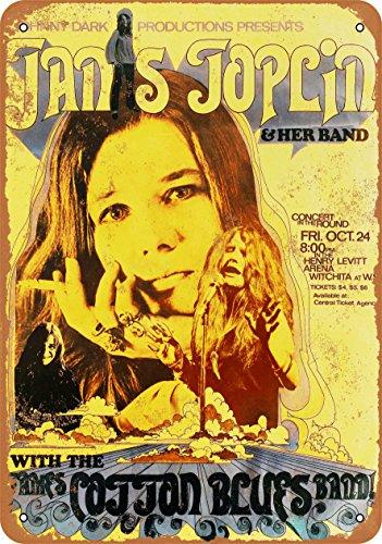 Wall-Color 7 x 10 Metal Sign - 1969 Janis Joplin in Wichita - Vintage Look
