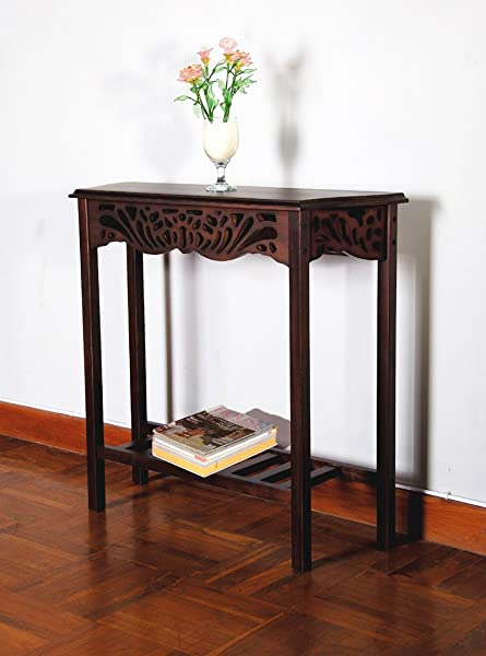 D Art Collection Serenity Entrance Wall Table Dark Brown