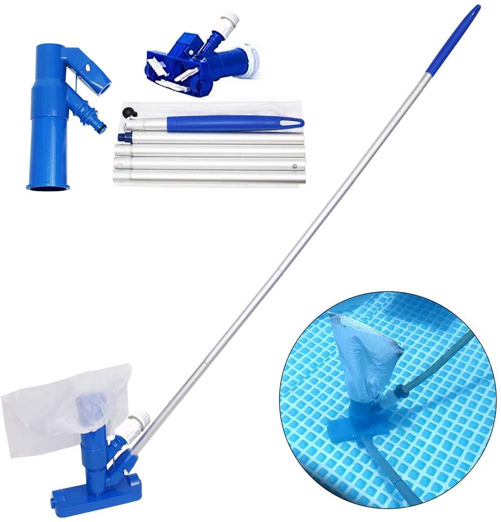 MANRS - Aspirador para piscinas, con bolsa y poste, ideal para hidromasajes, fuentes, SPA, estanques, aspiradora de mano: Amazon.es: Hogar