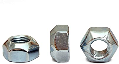 (10) M10 x 1.50 Zinc Plated Hex Cone Prevailing Torque All Metal Lock Nuts, Class 10 Steel DIN 980V Cr+3 RoHS - MonsterBolts (10, M10 x 1.50)