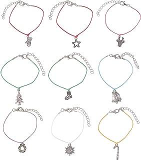9 قطع عيد الميلاد سحر أساور أتمنى أساور عطلة مجموعة مجوهرات هدية للنساء الفتيات