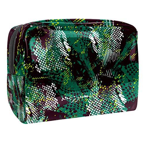 Tragbare Make-up-Tasche mit Reißverschluss, Reise-Kulturbeutel für Frauen, praktische Aufbewahrung, Kosmetiktasche, Dinosaurier, Camouflage, Militär
