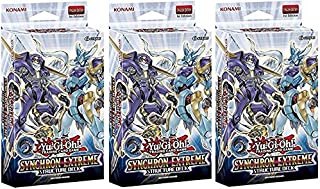 Lot of THREE(3) Yugioh Card Game SYNCHRON EXTREME English 1st Edition Structure Decks!