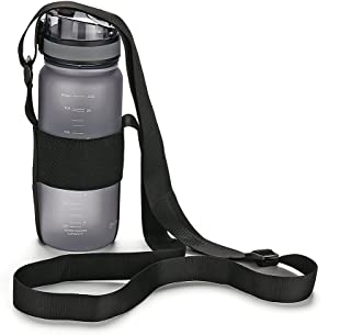 OYATON Water Bottle Carrier with Adjustable Shoulder Strap,Universal Bottle Sling,Perfect for Daily Walking,Biking, Hiking,Going to The Beach