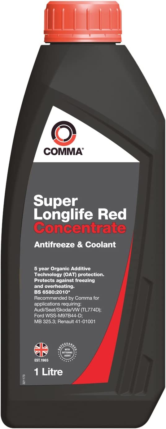 Comma SLA1L 1L Super Antifreeze and Coolant Concentrated - Red