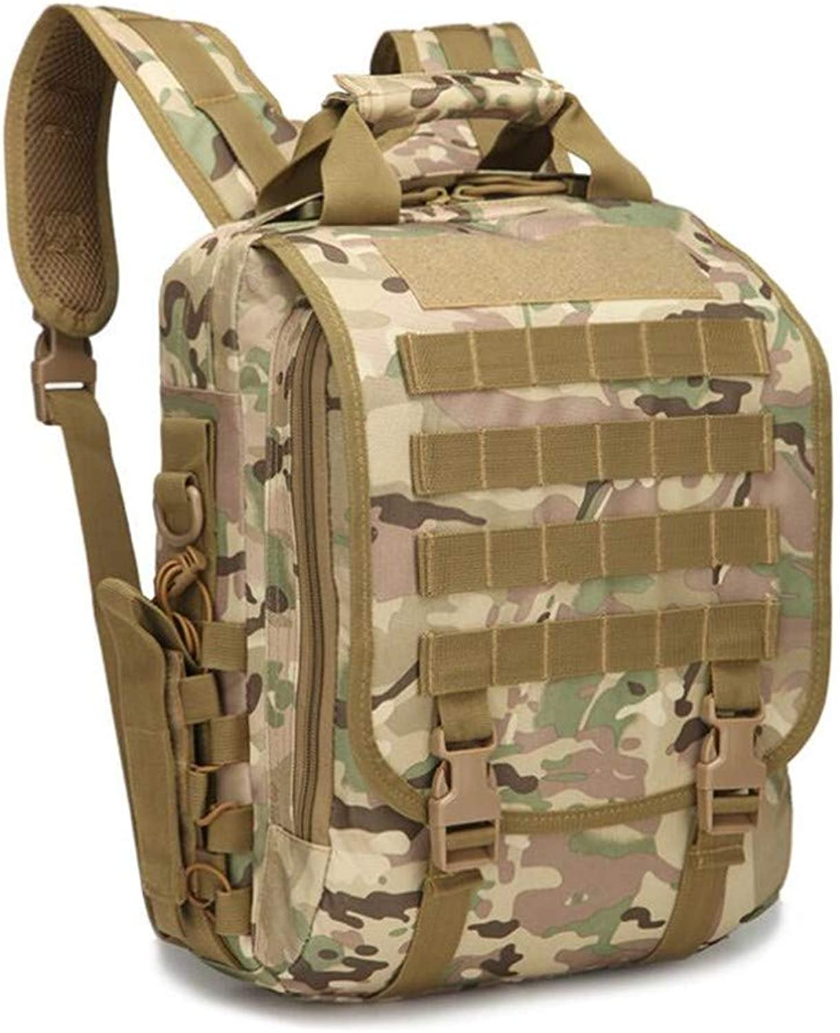 Unisex Outdoor Tactical Backpack, Adjustable Oxford Waterproof Casual Backpack, Durable and Comfortable Lightweight Computer Backpack