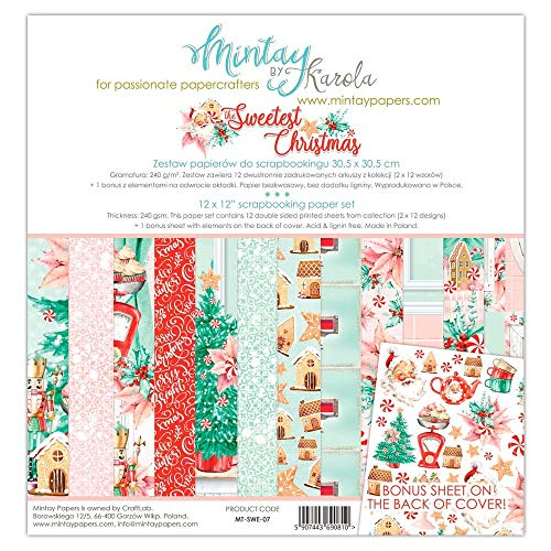 """MTY Paper Pad 12""""x12"""" - Sweetest Christmas"""