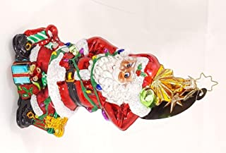 Santa`s Light Plight - Christopher Radko Retired Ornament