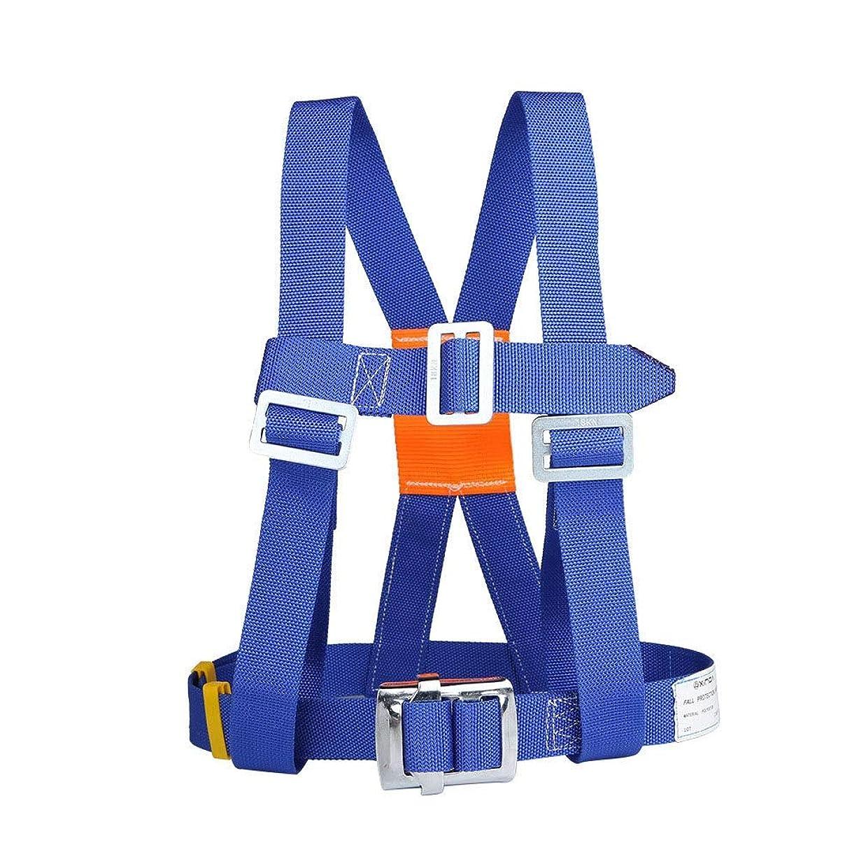 に渡って気楽な周りFELICIAAA シートハーネススパイダーマン5点屋外構造耐摩耗性クライミングロッド安全ハーネス安全ロープ電気技師ハーネス (色 : Blue - Single - small buckle (3 m))