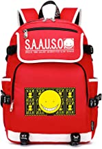 Assassination Classroom Casual Backpack Backpacks Simple School Bag Red Student Backpack Casual Computer Bag Daypack Unisex (Color : Red05, Size : 37 x 16 x 45cm)