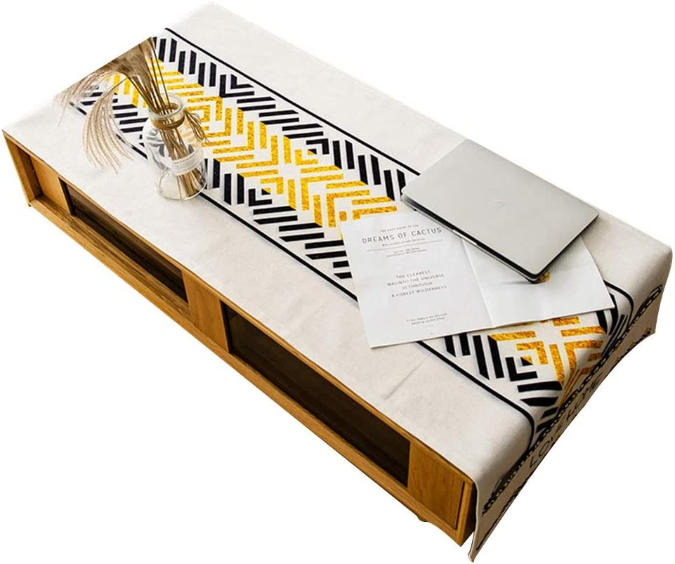 Color : A, Size : 50 /× 160 cm HANSHAN Manteles Mantel Impermeable A Prueba De Aceite De Mesa De Caf/é Protector Mantel Rectangular Mantel A Prueba De Polvo Cocina Comedor 50 X 160 Cm