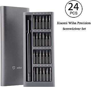 Precision Screwdriver Set, Xiaomi Mijia Wiha 24 in 1 Screwdriver Bits Set Repair Tool Precision Magnetic Screwdriver Kit Alluminum Box for Quartz Watches, Cameras, Radios, Computers, Phone