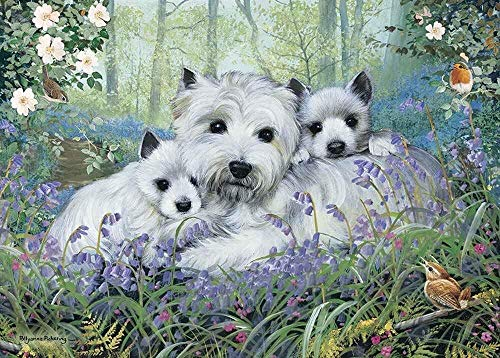 QGXDT Rectangular Jigsaw - Westies in The Wood