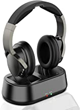 Rybozen Wireless TV Headphones with Transmitter Dock, Over-Ear Cordless Headset with RCA / 3.5MM Input, for Watching Home ...