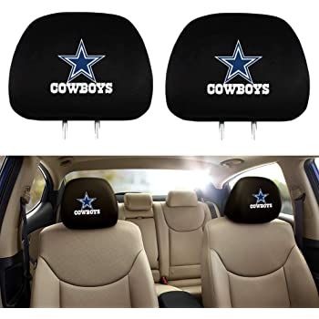 Black Breathable Flexible Headrest Covers Fit for Most Car Models for Cowboys Lisha 2-Piece Printed Car Seat Headrest Cover for Dallas Cowboys