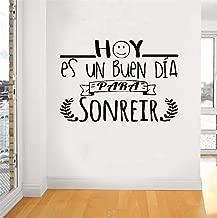 SHGYFE Peel and Stick Removable Wall Stickers Hoy ES Un Buen Día para Sonreír Wall Sticker for Living Room Bedroom