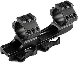 MIZUGIWA 1inch /30mm Quick Release Cantilever Weaver Forward Reach Dual Ring Rifle Scope Mount