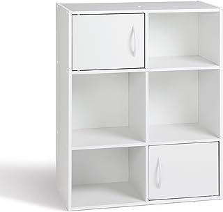 comprar comparacion Alsapan 94484 Compo 11 - Mueble Organizador (6 Compartimentos y 2 Puertas, 61,5 x 29,5 x 80 cm), Color Blanco