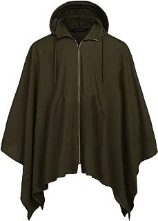 COOFANDY Men's Poncho Cape Hoodie Fashion Coat Pullover Cloak