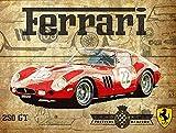 Hunnry Ferrari Car Poster Metall Blechschilder Retro