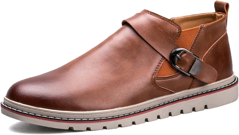 Autumn Korean Version Men Casual shoes England Lazy shoes Leather shoes