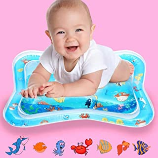 YOMOZONE Tummy Time Mat Baby Toy Water Play Mat, Infant Toy Inflatable Play Mat Toddlers Fun Play Activity Center, Perfect Leakproof BPA Free Floating Toys for 3 6 9 Months Newborn Boy Girl Gift