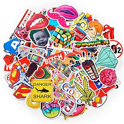 Stickers Set Random Sticker Decals For Water Bottle Laptop Cellphone Skateboard Bicycle Motorcycle Car Bumper Luggage Travel Case. 100Pcs