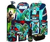 Dinosaurier Dino T-Rex 10 Teile Set Schulranzen Ranzen Tasche Tornister Schultüte 85 cm Federmappe inklusive Sticker von Kids4shop