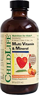 ChildLife Essentials Multi Vitamin and Mineral for Infants, Babys, Kids, Toddlers, Children, and Teens Natural Orange/Mang...