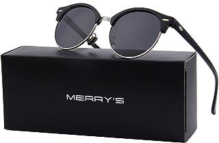 aa53a10d767 MERRY S Polarized Sunglasses for Men Women Semi Rimless Retro Brand Sun  Glasses S8054