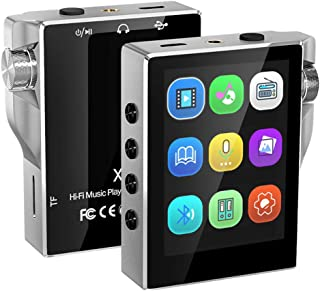 Music Player, MP3 Player with Bluetooth 8GB FM Radio HiFi High Resolution Lossless Digital Audio with Video E-Book Recordi...