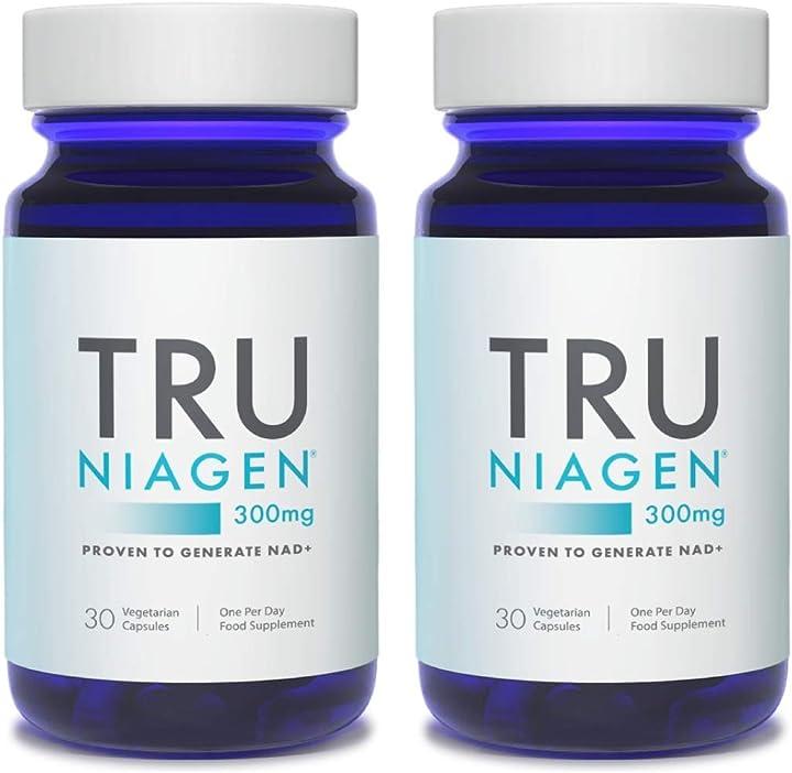 Nicotinamide riboside nad + supplemento per la riduzione della stanchezza tru niagen 60 cps PHTNB002-UK-30-300