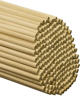 Wooden Dowel Rods 3/8 x 6 Inch, Pack of 25Hardwood Dowel Sticks by Woodpeckers