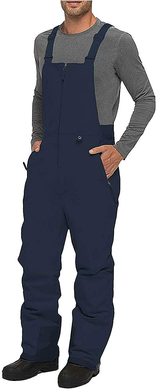 Men's Waterproof Mud Trousers Plus Size with Suspenders Shorts Ski Snowpants Work Clothes Slim Straight Leg Pants