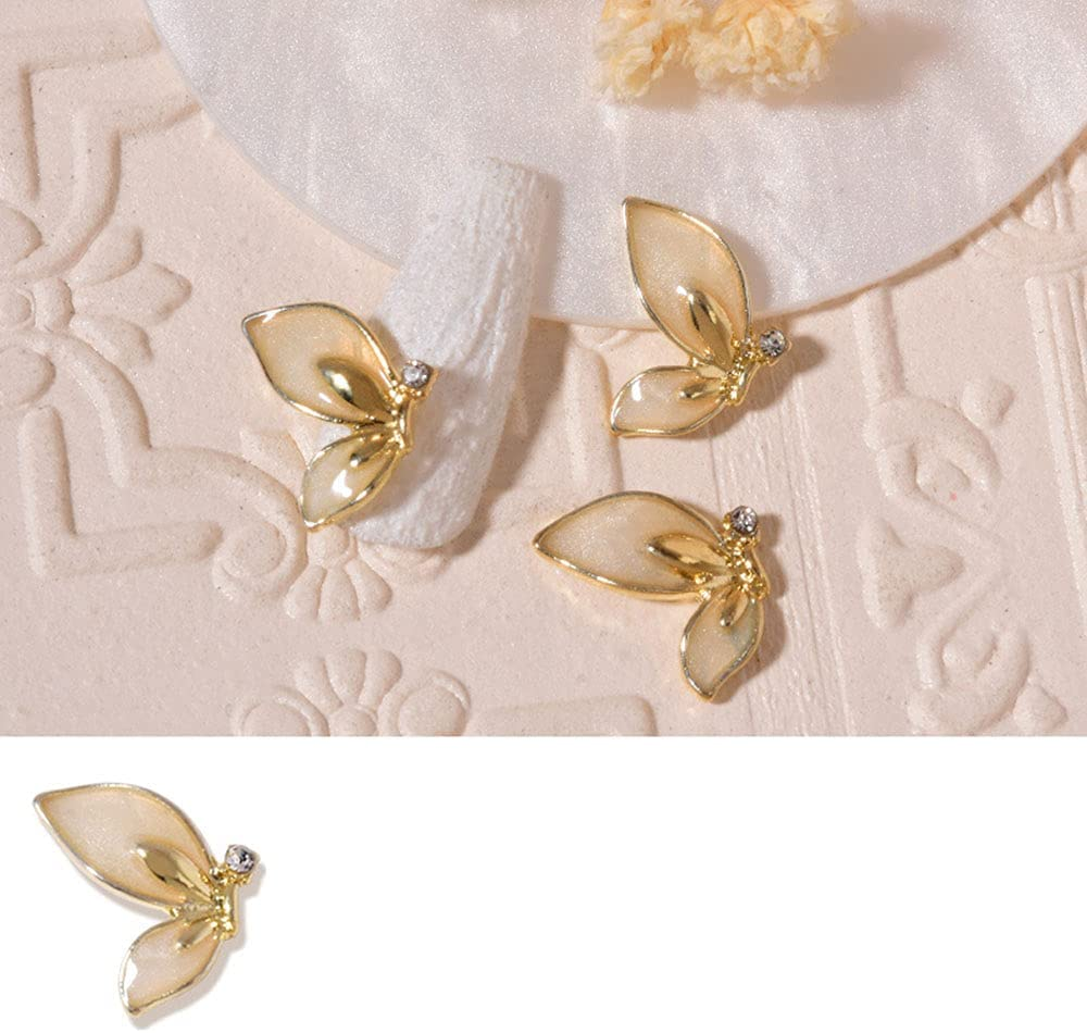 Dealing full price reduction ZHUZI 10pcs Color Butterfly Wings 3D Metal Decoration Nail Alloy Ranking TOP15