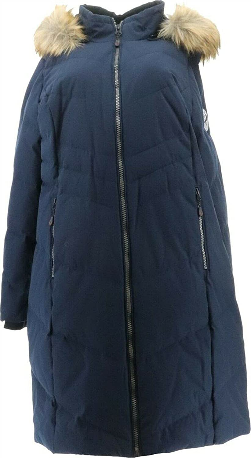 Arctic Expedition Chevron Quilted Down Coat Removable Hood A369052