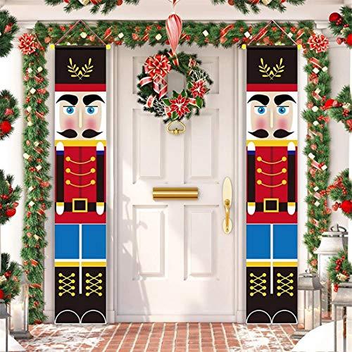 QHiYan Nutcracker Christmas Decorations Outdoor Xmas Decor, Soldier...