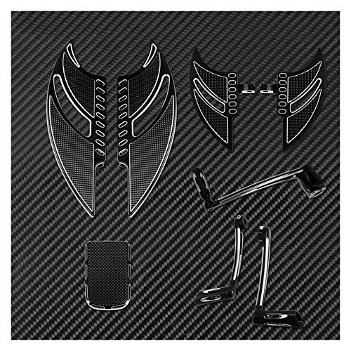 Reposapiés Motocicleta para Harley Touring 97-2007 FLHT Motorcycle Shift Shift Lever & Shift PEGS Kit De Brazo De Freno Pedal Pad Frontal Piso Trasero Set De Reposapiés