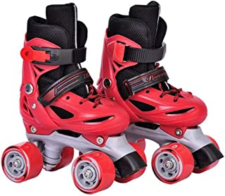 LIMOS Roller SkatesShoes,Double Rows 4 Wheels,Adjustable Shoe Size AREA for Boys And Girls