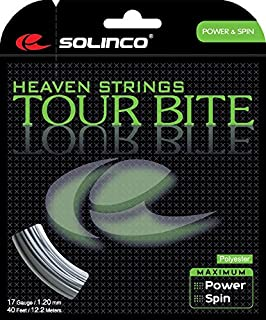 Solinco Tour Bite 4-Sided Poly (Polyester) 15L/16/16L/17/18/19/20 Gauge Tennis Racquet String Sets in Multi-Packs - Best for Spin, Control, and Durability (2-4-6-8-Packs)