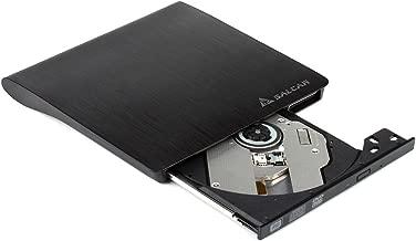 Salcar USB3.0 Externes DVD/CD Laufwerk Brenner Slim Tragbar, 100% Neu Chip, für alle Laptops/Desktop kompatibel mit Windows 7/8/10 und Mac OS für Macbook, Macbook Pro, Macbook Air, iMac, Schwarz