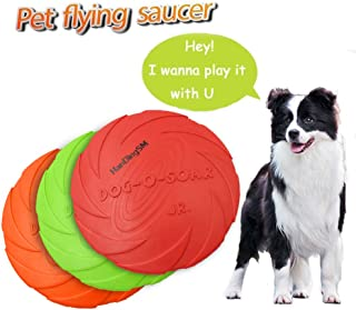 Dog Frisbee Toy,Pet Training Cyber Rubber Flying Saucer Interactive Toys,Floating Water Dog Toy Suitable for Small, Medium, or Large Dogs Outdoor Flight,1pcs