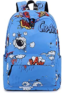 MYXMY English Graffiti Personality Crazy Pattern rain Cloth Men and Women Size Children's Shoulders Primary and Secondary School Students Small School Bag (Color : C)