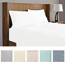 Royale Linens Soft Tees Cotton Modal Jersey Knit Sheet Set, King, White