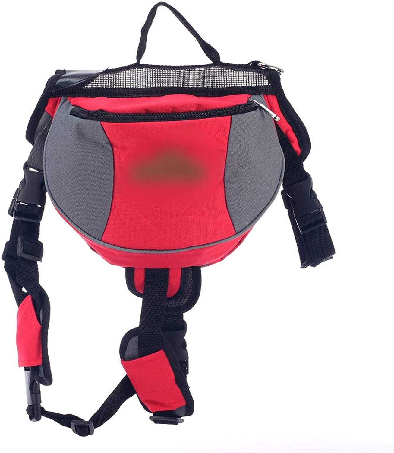 HUAyue Pet Bag Oxford Cloth from Backpack Portable Bag Cat and Dog Backpack,Breathable Backpack (color   Red, Size   L)