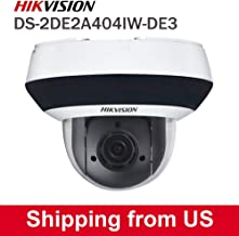 Hikvision 4MP POE Mini PTZ IP Camera DS-2DE2A404IW-DE3,Pan/Tilt/2.8mm~12mm 4X Optical Zoom,Smart IR Night Vision,Audio/Alram Interface, H.265+, Upgrade Version for DS-2DE3304W-DE
