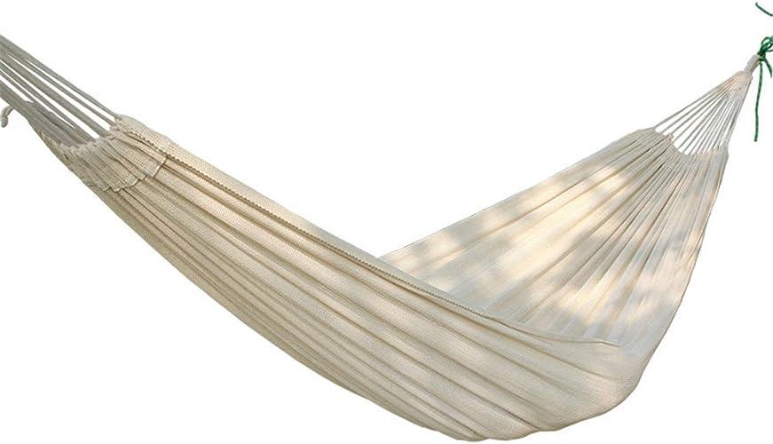 Hamac de Camping de Voyage Hamac extérieur léger léger de hamac de hamac de lit de Coton épais avec Le Blanc Sac de Couchage Tente est Facile à Transporter